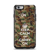 The Keep Calm & Carry On Camouflage Apple iPhone 6 Otterbox Symmetry Case Skin Set