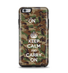 The Keep Calm & Carry On Camouflage Apple iPhone 6 Plus Otterbox Symmetry Case Skin Set