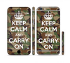 The Keep Calm & Carry On Camouflage Sectioned Skin Series for the Apple iPhone 6s Plus