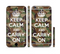 The Keep Calm & Carry On Camouflage Sectioned Skin Series for the Apple iPhone 6 Plus