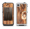 The Knobby Raw Wood Apple iPhone 4-4s LifeProof Fre Case Skin Set