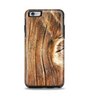 The Knobby Raw Wood Apple iPhone 6 Plus Otterbox Symmetry Case Skin Set