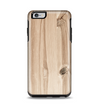 The LIght-Grained Wood Apple iPhone 6 Plus Otterbox Symmetry Case Skin Set