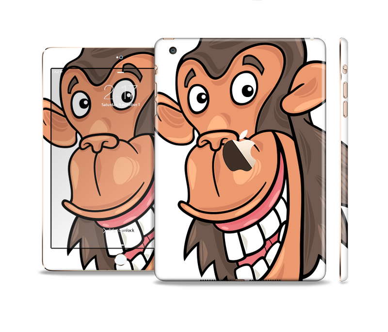 The Laughing Vector Chimp Full Body Skin Set for the Apple iPad Mini 3