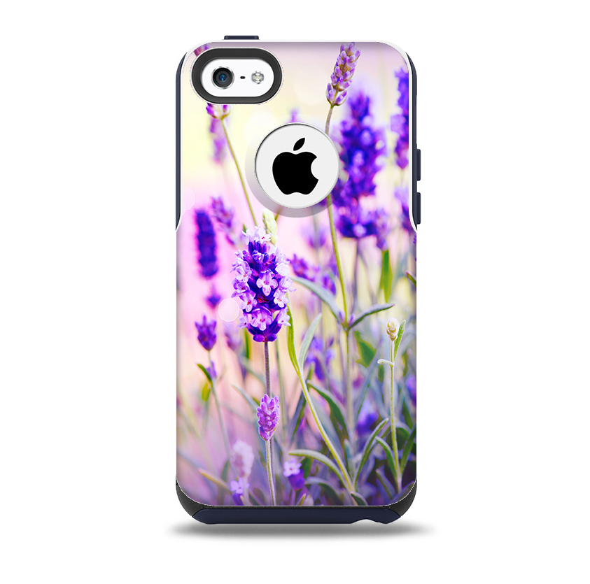 The Lavender Flower Bed Skin for the iPhone 5c OtterBox ...