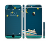 The Layered Paper Night Ship with Gold Stars Sectioned Skin Series for the Apple iPhone 6 Plus