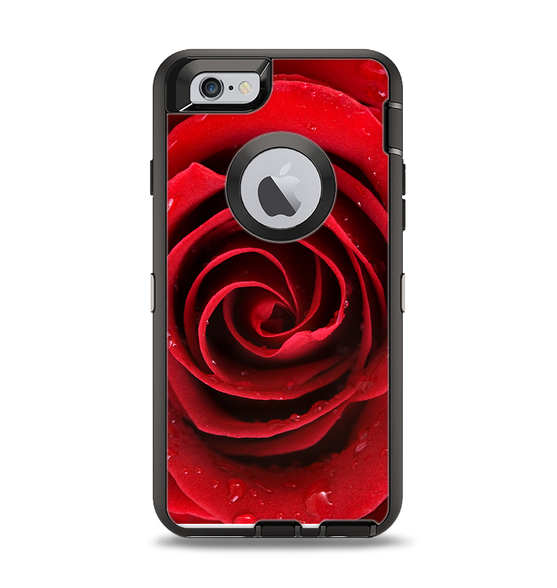 newest d0ad8 a814d The Layered Red Rose Apple iPhone 6 Otterbox Defender Case Skin Set