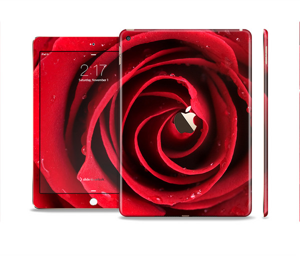 The Layered Red Rose Skin Set for the Apple iPad Pro