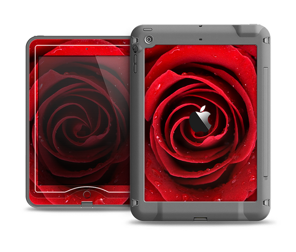 The Layered Red Rose Apple iPad Air LifeProof Nuud Case Skin Set
