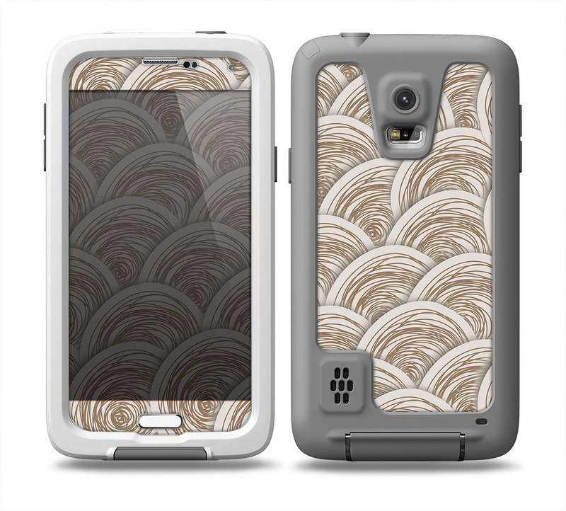 The Layered Tan Circle Pattern Skin for the Samsung Galaxy S5 frē LifeProof Case