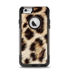 The Leopard Furry Animal Hide Apple iPhone 6 Otterbox Commuter Case Skin Set