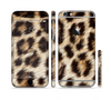 The Leopard Furry Animal Hide Sectioned Skin Series for the Apple iPhone 6 Plus