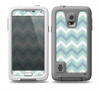 The LightTeal-Colored Chevron Pattern Skin for the Samsung Galaxy S5 frē LifeProof Case