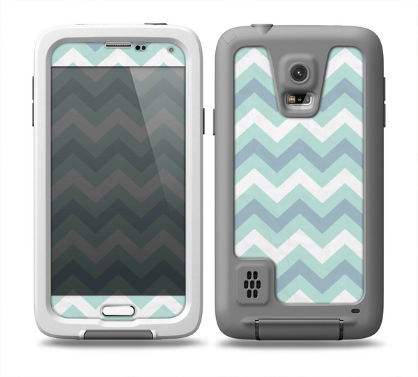 The lightteal colored chevron pattern skin samsung galaxy s5 fr