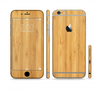 The Light Bamboo Wood Sectioned Skin Series for the Apple iPhone 6 Plus