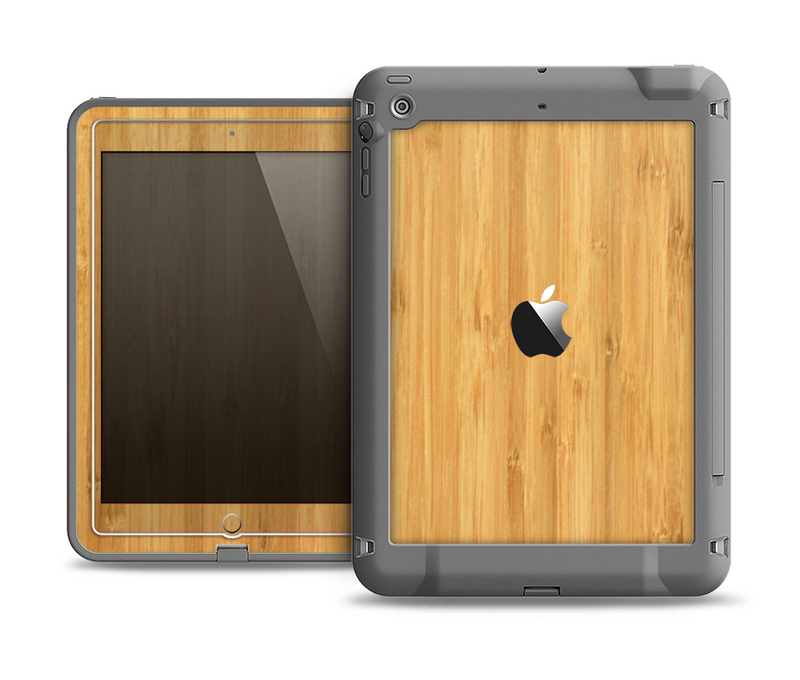 The Light Bamboo Wood Apple iPad Air LifeProof Fre Case Skin Set