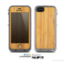 The Light Bamboo Wood Skin for the Apple iPhone 5c LifeProof Case