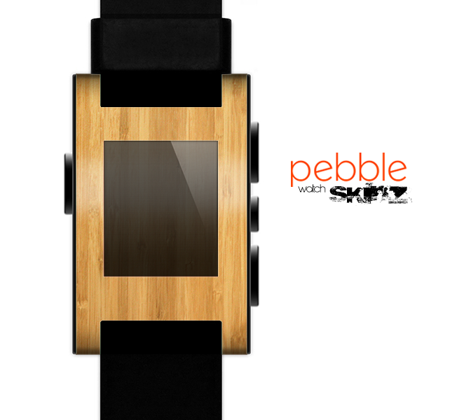 The Light Bamboo Wood Skin for the Pebble SmartWatch