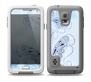 The Light Blue Butterfly Outline Skin for the Samsung Galaxy S5 frē LifeProof Case