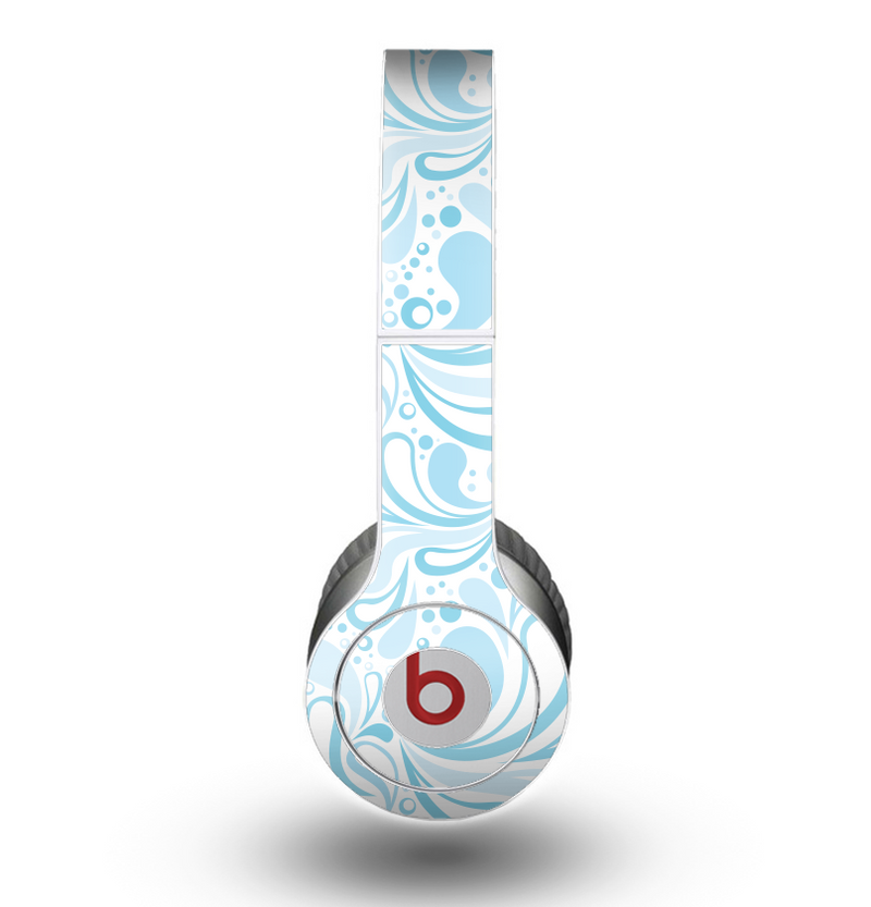 The Light Blue Floral Branches Skin for the Beats by Dre Original Solo-Solo HD Headphones