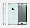 The Light Blue Floral Branches Skin for the Apple iPhone 6