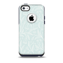 The Light Blue Floral Branches Skin for the iPhone 5c OtterBox Commuter Case