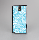 The Light Blue Paisley Floral Pattern V3 Skin-Sert Case for the Samsung Galaxy Note 3