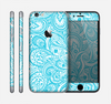 The Light Blue Paisley Floral Pattern V3 Skin for the Apple iPhone 6