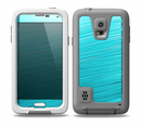 The Light Blue Slanted Streaks Skin for the Samsung Galaxy S5 frē LifeProof Case
