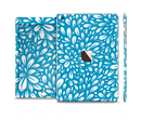 The Light Blue & White Floral Sprout Full Body Skin Set for the Apple iPad Mini 3