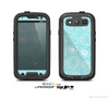 The Light Blue & White Swirls V3 Skin For The Samsung Galaxy S3 LifeProof Case