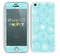 The Light Blue & White Swirls V3 Skin for the Apple iPhone 5c
