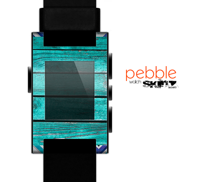 The Light Blue & White Swirls V3 Skin for the Pebble SmartWatch