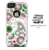 The Light Colored Abstract Paisley Skin For The iPhone 4-4s or 5-5s Otterbox Commuter Case