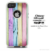 The Light Colored Neon Wood Planks Skin For The iPhone 4-4s or 5-5s Otterbox Commuter Case