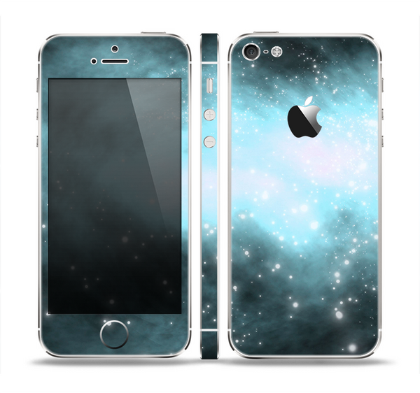 The Light & Dark Blue Space Skin Set for the Apple iPhone 5