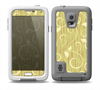 The Light Green Curley Vines Skin for the Samsung Galaxy S5 frē LifeProof Case