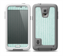 The Light Green Scratched Stripe Pattern v4 Skin for the Samsung Galaxy S5 frē LifeProof Case