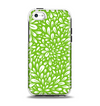 The Light Green & White Floral Sprout Apple iPhone 5c Otterbox Symmetry Case Skin Set