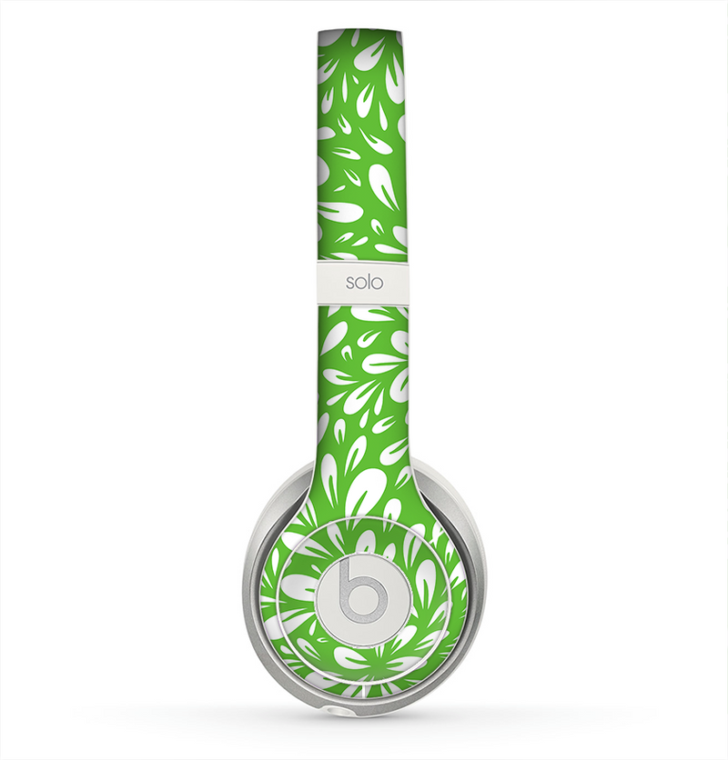 The Light Green & White Floral Sprout Skin for the Beats by Dre Solo 2 Headphones
