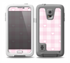The Light Pink Heart Plaid  Skin for the Samsung Galaxy S5 frē LifeProof Case