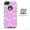 The Light Pink Mirrored Pattern Skin For The iPhone 4-4s or 5-5s Otterbox Commuter Case