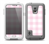 The Light Pink and White Plaid Pattern Skin for the Samsung Galaxy S5 frē LifeProof Case