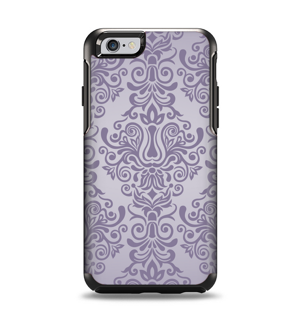 The Light Purple Damask Floral Pattern Apple iPhone 6 Otterbox Symmetry Case Skin Set