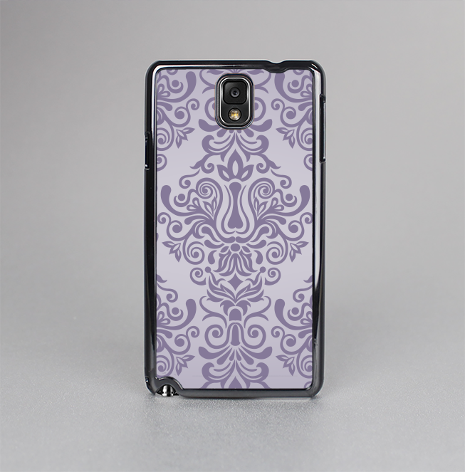 The Light Purple Damask Floral Pattern Skin-Sert Case for the Samsung Galaxy Note 3