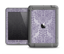 The Light Purple Damask Floral Pattern Apple iPad Air LifeProof Fre Case Skin Set