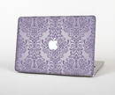 "The Light Purple Damask Floral Pattern Skin Set for the Apple MacBook Pro 15"" with Retina Display"