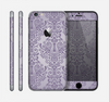 The Light Purple Damask Floral Pattern Skin for the Apple iPhone 6