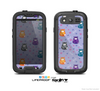 The Light Purple Fat Cats Skin For The Samsung Galaxy S3 LifeProof Case