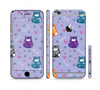 The Light Purple Fat Cats Sectioned Skin Series for the Apple iPhone 6 Plus